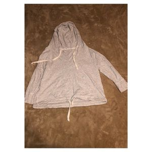 American Eagle Lightweight Long Sleeve Hoodie Top